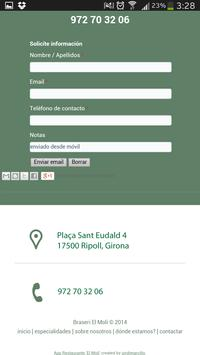 Restaurante El Molí de Ripoll apk screenshot