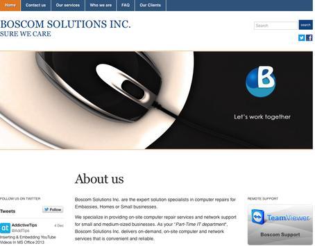 BOSCOM SOLUTIONS INC poster