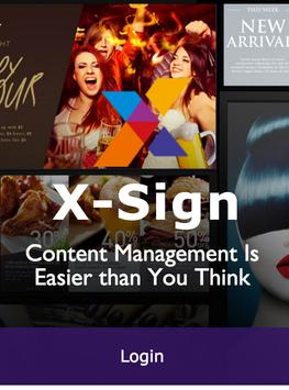 X-Sign WeB Test poster