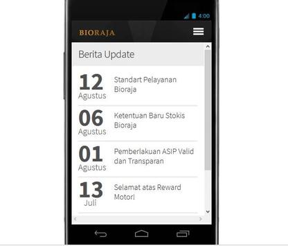 Bioraja apk screenshot