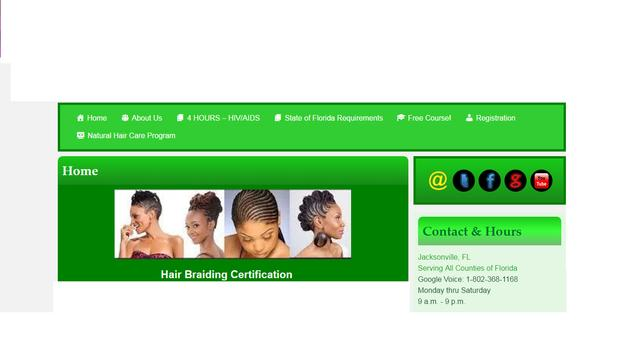 Hair Braiding Certification poster