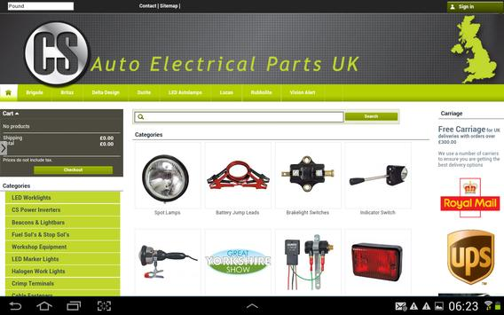 CS Auto Electrical Parts UK apk screenshot