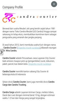 Candra Courier poster