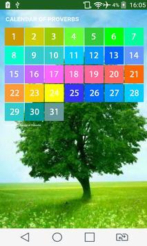 Calendar of Proverbs poster