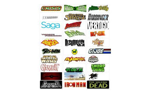 Comic Book  Labels Collection apk screenshot