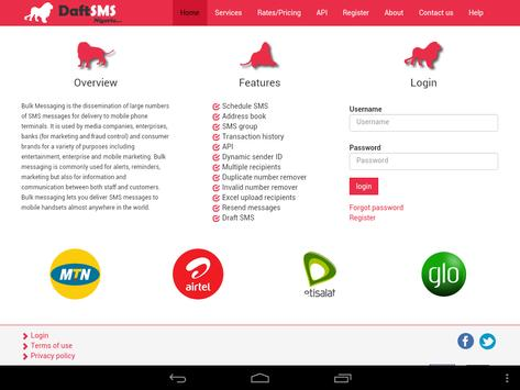 DaftSMS apk screenshot
