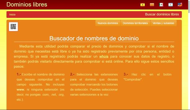 Dominios Libres apk screenshot