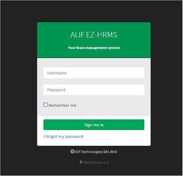 ALIF EZHRMS apk screenshot