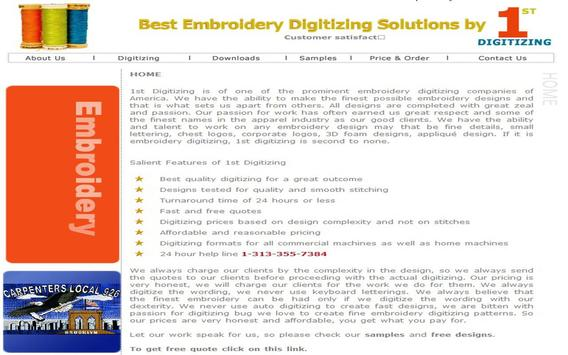 Embroidery Digitizing poster