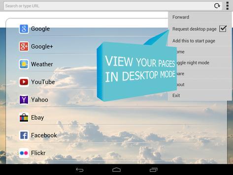 Fast loading Internet Browser apk screenshot