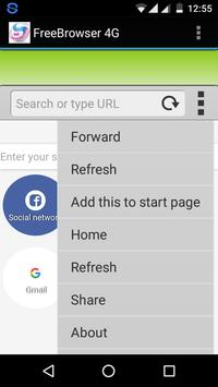 Free Speed Browser 4G apk screenshot