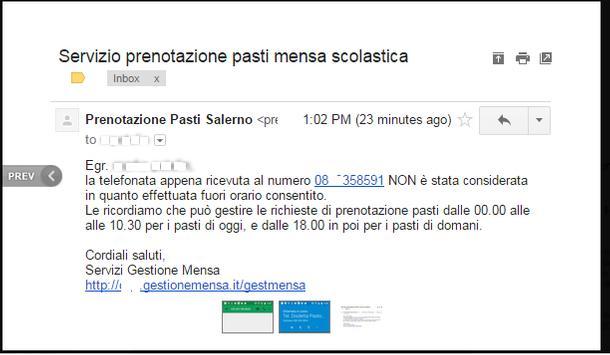 GestioneMensa apk screenshot