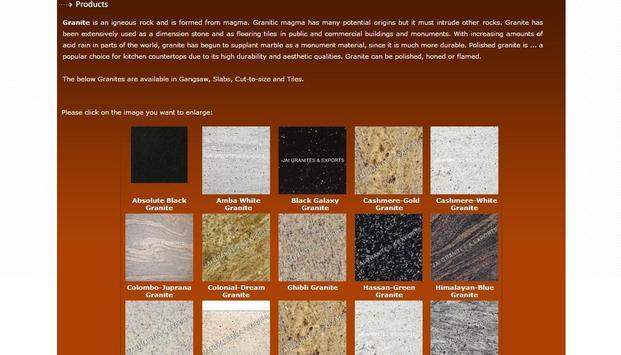 Granites Supplier Export India apk screenshot