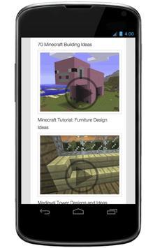 Ideas to built on minecraft apk screenshot