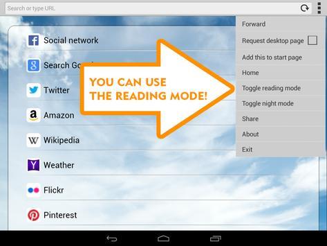 Fast Easy Browser apk screenshot