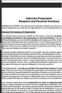 Interview Tips apk screenshot