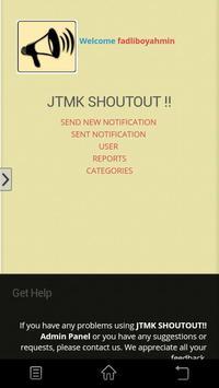 JTMK ShoutOut Admin apk screenshot