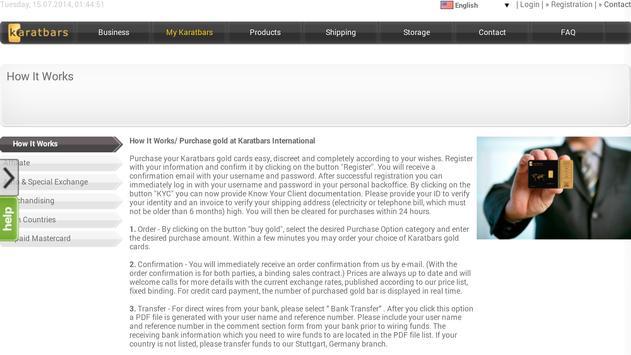 Karatbars Gold Mobile apk screenshot