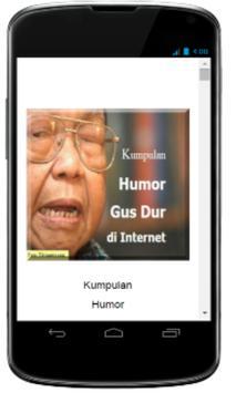 Kumpulan Humor Gus Dur apk screenshot