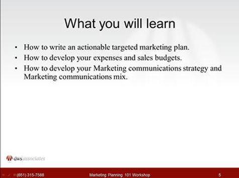 Marketing Planning 101 apk screenshot