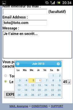 Mail Anonyme apk screenshot