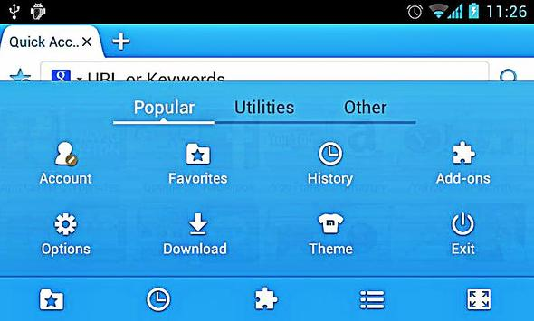 Maxi Browser Mini apk screenshot