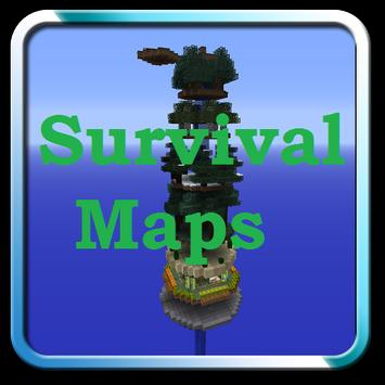 Survival maps for Minecraft PE poster