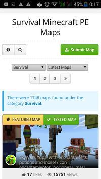 Survival maps for Minecraft PE apk screenshot