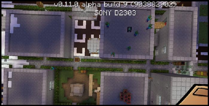 Minecraft PE zombi mod, maps poster