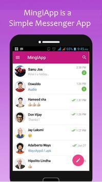 MinglApp Messenger poster