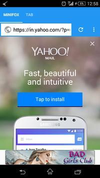 Minifox Web Browser apk screenshot