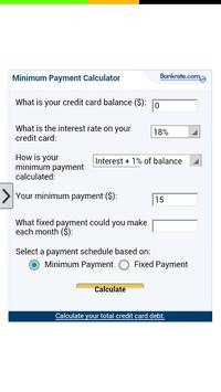 Minimum Payment Calculator app poster