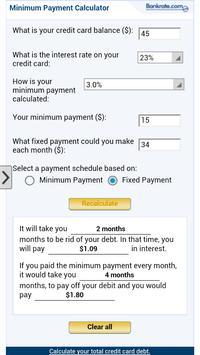 Minimum Payment Calculator app apk screenshot