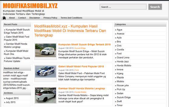 Modifikasi Mobil poster