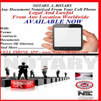 NOTARY  4  ROTARY poster
