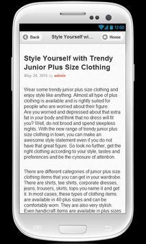 Plus size clothing apk screenshot