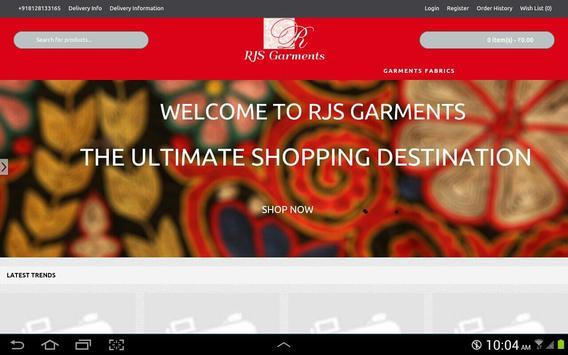 RJS Garments poster