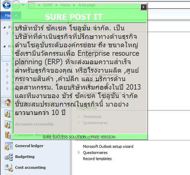 SURE POST IT:Dynamcis AX:DEMO apk screenshot