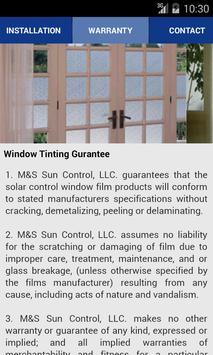 M & S Sun Control apk screenshot