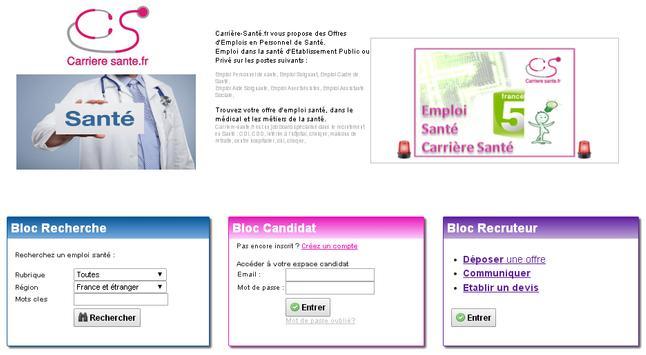 Emploi Médical dans la santé apk screenshot