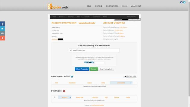 SpiderWeb Hosting apk screenshot