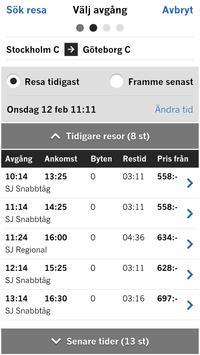 Sveriges tågtrafik apk screenshot