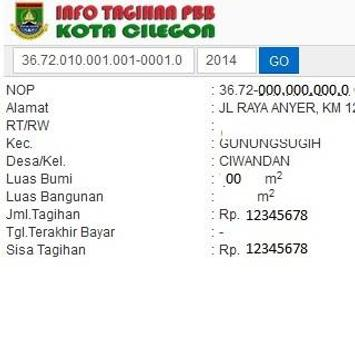 TAGIHAN PBB CILEGON apk screenshot