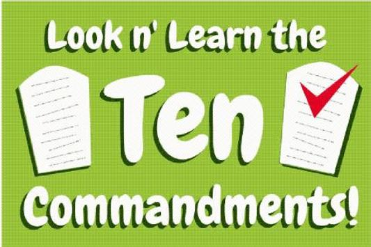 Ten Commandments 10 Commands poster