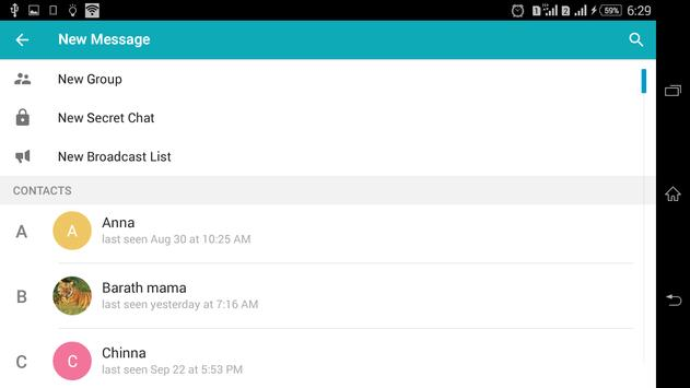 Telegramme apk screenshot