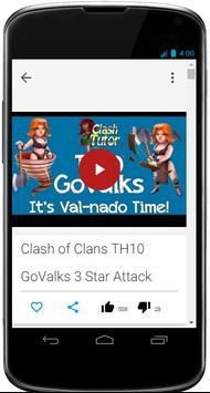 Tutorial Guide Of Clash apk screenshot