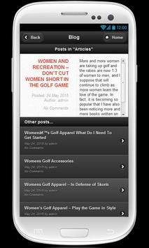 Womens golf shorts poster