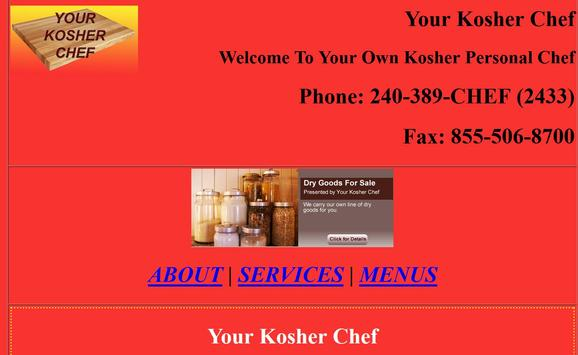 Your Kosher Chef poster