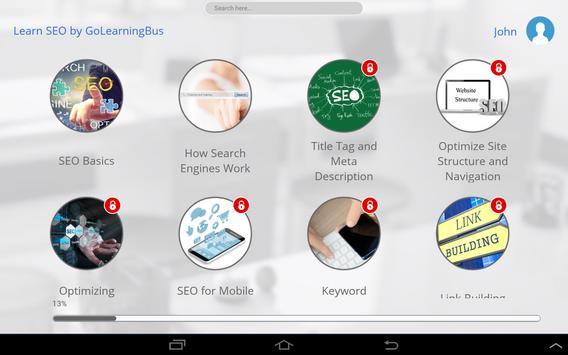 Learn SEO by GoLearningBus apk screenshot