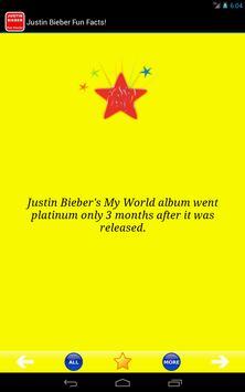 Justin Bieber Fun Facts! apk screenshot
